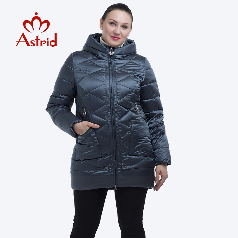 Astrid 2019 thick winter jacket women windproof warm Hooded winter jacket high quality cotton winter coat