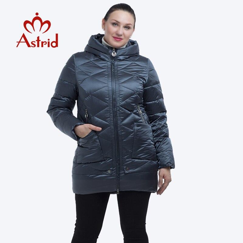 Kadın Giyim'ten Parkalar'de Astrid 2019 kalın kış ceket kadınlar rüzgar geçirmez sıcak Kapşonlu kış ceket yüksek kaliteli pamuk kış ceket kadınlar FR 2229'da  Grup 1