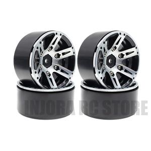 Image 4 - 4PCS Metal Wheel Rim 1.9 Inch BEADLOCK for 1/10 RC Rock Crawler Axial SCX10 90046 AXI03007 TAMIYA CC01 D90 TF2 Traxxas TRX 4