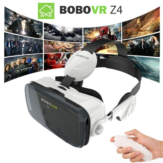 2016 bobovr vr box z4 120 fov 3d di realta virtuale video 3d movie game occhiali con la cuffia google cartone + bluetooth gamepa