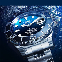 Men Submariner Diver RLX Luxury Brand 200M Water Resistant Luminous Sapphire Stainless Steel Automatic Mechanical Wristwatch san martin sixty five men vintage diving watch stainless steel automatic watch 200 water resistant bronze ring retro wristwatch