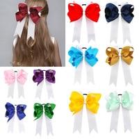 2017 Girls newest Cheer bows Elastic Hair Bands Holder Mermaid Children hairwear for newborn Girls Kids Hair Accessories