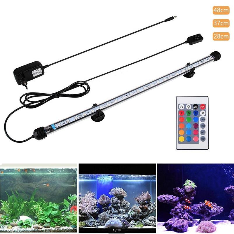 28cm 37cm 48cm Led Fish Tank Aquarium Led Light 5050 Smd Rgb Light Bar Ip68 Waterproof Submersible Lamp Eu/us/uk/au Plug Snyka Led Underwater Lights