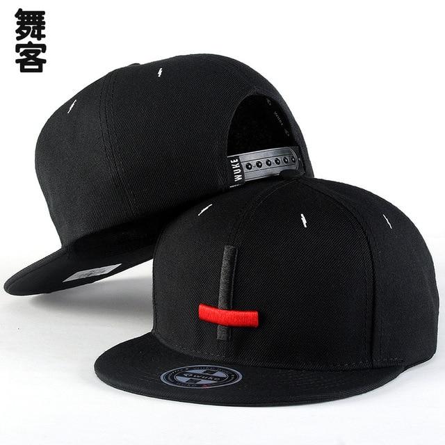 ea3760da04270 Coréia do sul tendência chapéu chapéu hip hop plana chapéu hip hop cruz  Bordado Boné de