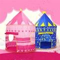 Brinquedo Das Crianças Dos Miúdos Do Bebê Azul Rosa Príncipe Tenda Dobrável portátil menino Castelo Cubby Casa de Jogo Tapetes de Jogo Para Crianças Melhor presente