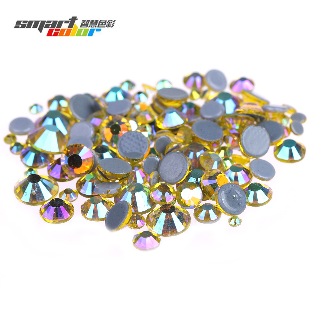 Citrine AB Color Hotfix Crystal Rhinestones With Glue Backing Iron On Strass Stones Perfect For Clothes Shoes Dresses sy x25 rc quadcopter spare parts front steering linkage