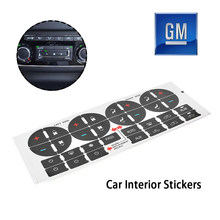 Radio+ A/C Climate Control Button Repair Decals Stickers Car Interior Stickers(China)