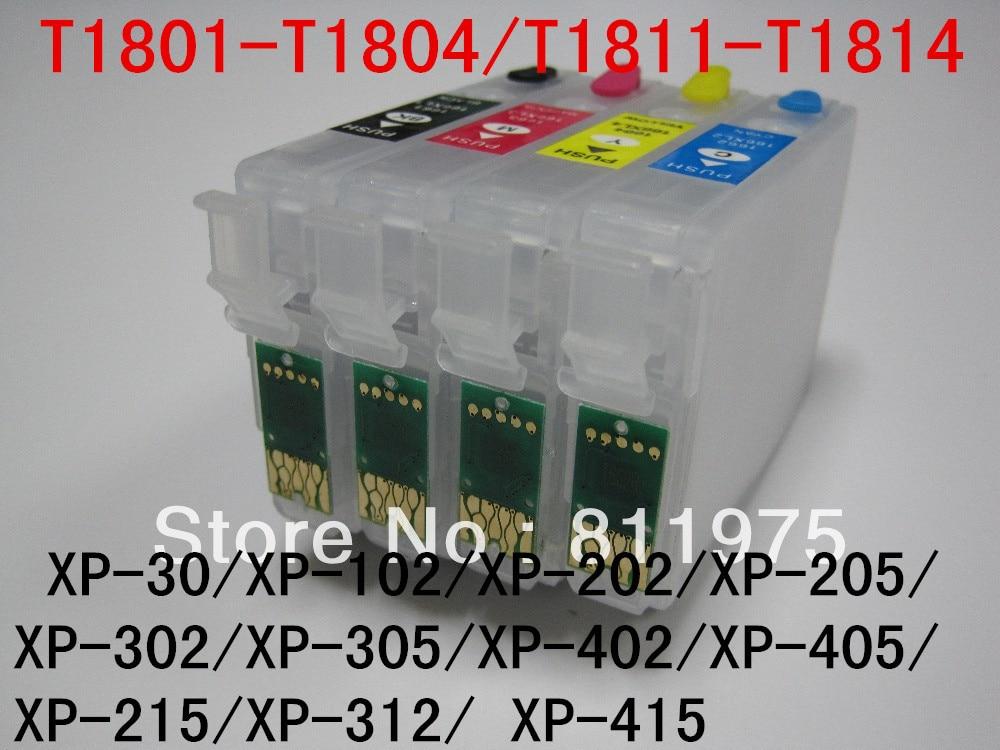 T1811 T1814 Nachfüllbare tinten patrone Für Epson XP 30/XP 102/XP 202/XP 205/XP 302/XP 305/XP 402 XP 405 XP 215 XP 312 XP 415-in Tintenpatronen aus Computer und Büro bei AliExpress - 11.11_Doppel-11Tag der Singles 1
