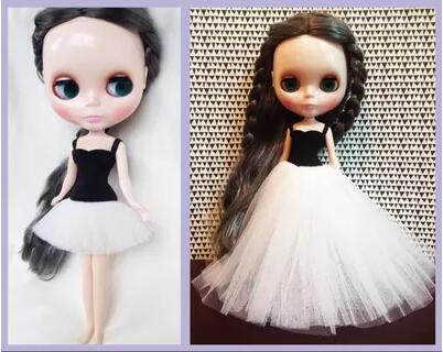 Handmade Fashion Blyth Dress With Lace Ballet Blyth Doll Clothing For Barbi OB24 1/6 30cm Doll Clothes