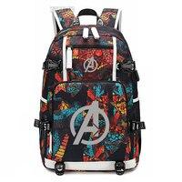 New Avengers 4 Infinity War schoolbag Printing laptop bag Men Travel bags USB Charging knapsack avengers endgame Oxford Backpack