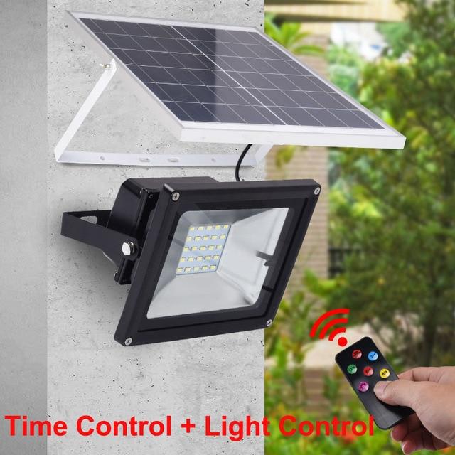 10PCS Wholesale 10W 20W 30W 50W 100W Outdoor Solar Powered LED Flood Light Time Control+ Remote Control Waterproof Spotlights