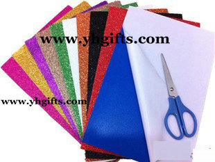50PCS/LOT.2mm Glitter Foam Sheets With Adhesive Stickers,EVA Stickers,Foam Stickers,Creativity Developing,20x30x0.2cm,10 Color