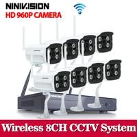 8CH IR HD Home Security Wifi Wireless IP Camera System 960P CCTV SET 3G WIFI Outdoor