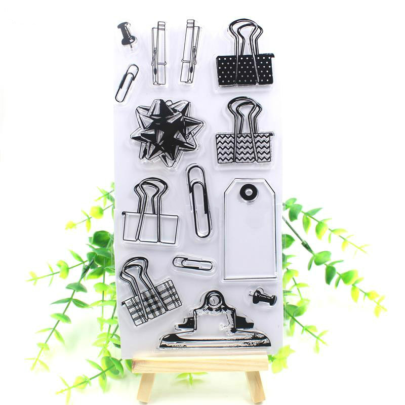 Book Clip Transparent Clear Silicone Stamps for DIY Scrapbooking/Card Making/Kids Christmas Fun Decoration Supplies tools transparent clear silicone stamps for diy scrapbooking card making kids christmas fun decoration supplies