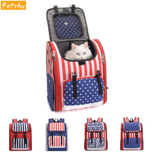 Petshy Pet Dog Carrier Backpack Bag Portable Travel Front Mesh Head Out Double Shoulder Outdoor