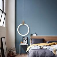Post modern Loft Concise Dining Room Pendant Light Art Creative Gold Circle Loop Restaurant Bedroom Office Decoration Led Lamp