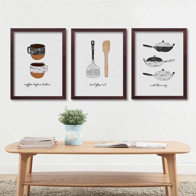 Kitchen Poster Modern Wall Art Canvas Painting Cuadros Decoracion ...