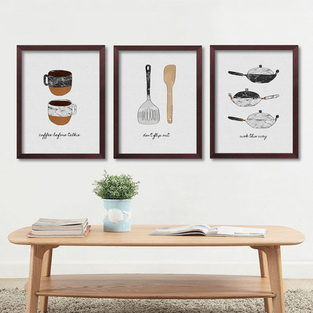 Nordic Style Kitchen Poster Wall Art Canvas Painting Cuadros Wall ...