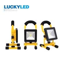LUCKYLED Ultrathin Led Flood Light 10W Waterproof IP65 Rechargeable Portable Spotlight Camping Light Outdoor Floodlight Lamp