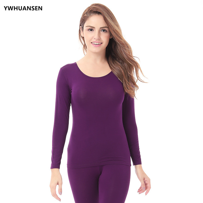 YWHUANSEN Womens Thermal 2 Pc Long John Underwear Set Top And Bottom Ultra Soft Smooth Knit Second Female Thermal Skin Clothes