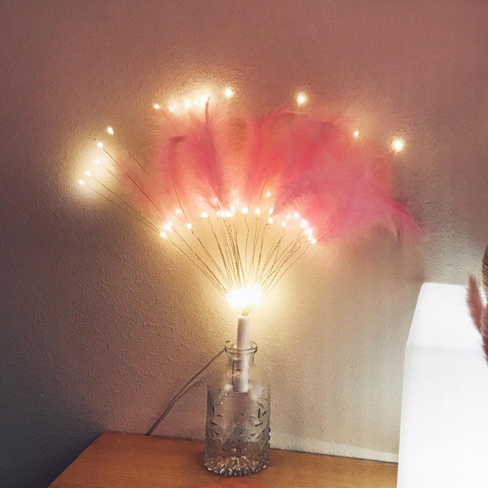 Diy Veer Vuurwerk Led Nachtlampje String Afstandsbediening Usb Warm Licht 8 Veranderingen Modus Kan Worden Gecontroleerd Nachtlampje
