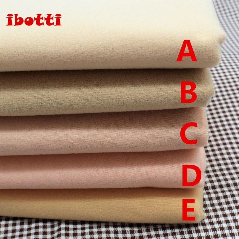 50*145 cm color carne Diy muñeca piel tela textil fibra alta densidad Nap Telas Tissus Costura Patchwork hecho a mano Costura