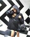 Bigbang concerto vetements oversize mulheres camisolas letras imprimir solto com chapéu camisolas hoodies estilo harajuku japonesa