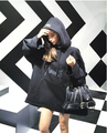 bigbang concert  vetements oversize women sweatshirts letters print loose with hat harajuku japanese style  hoodies sweatshirts