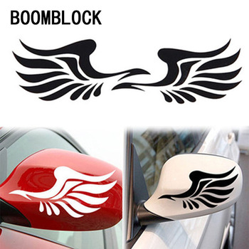 1Pair Car Styling Rearview mirror decorative wings sticker for Abarth Fiat 500 BMW E60 E36 E34 Mercedes Benz W204 Volvo XC90 image
