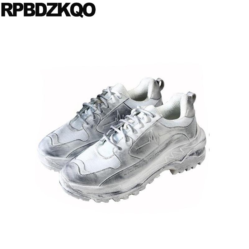 Calidad Plataforma Alta Respirable Pasarela Los De Deporte Zapatillas Hombres Blanco Enredaderas Blancas Zapatos Casuales Vaca Lujo Cuero Marca Nuevo 0vx0zZf