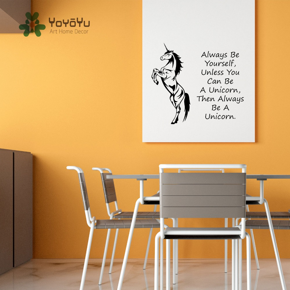 Unicorn Horse Wall Art Sticker Always Be Yourself Unless You Can Be ...