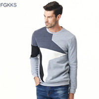 FGKKS 2017 New Autumn Fashion Men Hoodies Casual Pullovers Round Collar Male Pullover Sportswear Tracksuit Mens