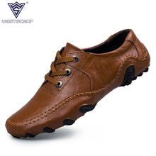Men Shoes Split Leather 2017 Driving Moccasins Mens Casual Shoes Boat Loafers Breathable Flats Splicing Lazy Shoes