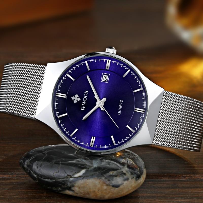 Super slim Quartz Casual Armbandsur Business Top Brand WWOOR - Herrklockor - Foto 4