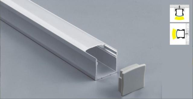 Us 3078 Aluminium Led Strip Armatuur Kanaal 2 Meter Onder Teller Kast Licht Kit Aluminium Profiel Voor Led Strip Vierkante Opal Profiel In