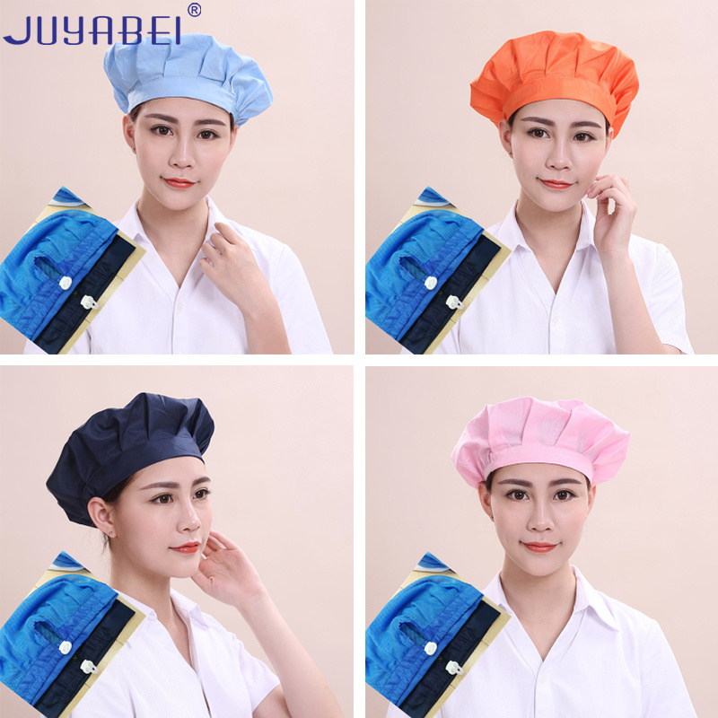 Summer Unisex Adjustable Chef Caps Restaurant Hotel Canteen Kitchen Work Hat Dust-proof And Breathable Food Factory Hygienic Cap