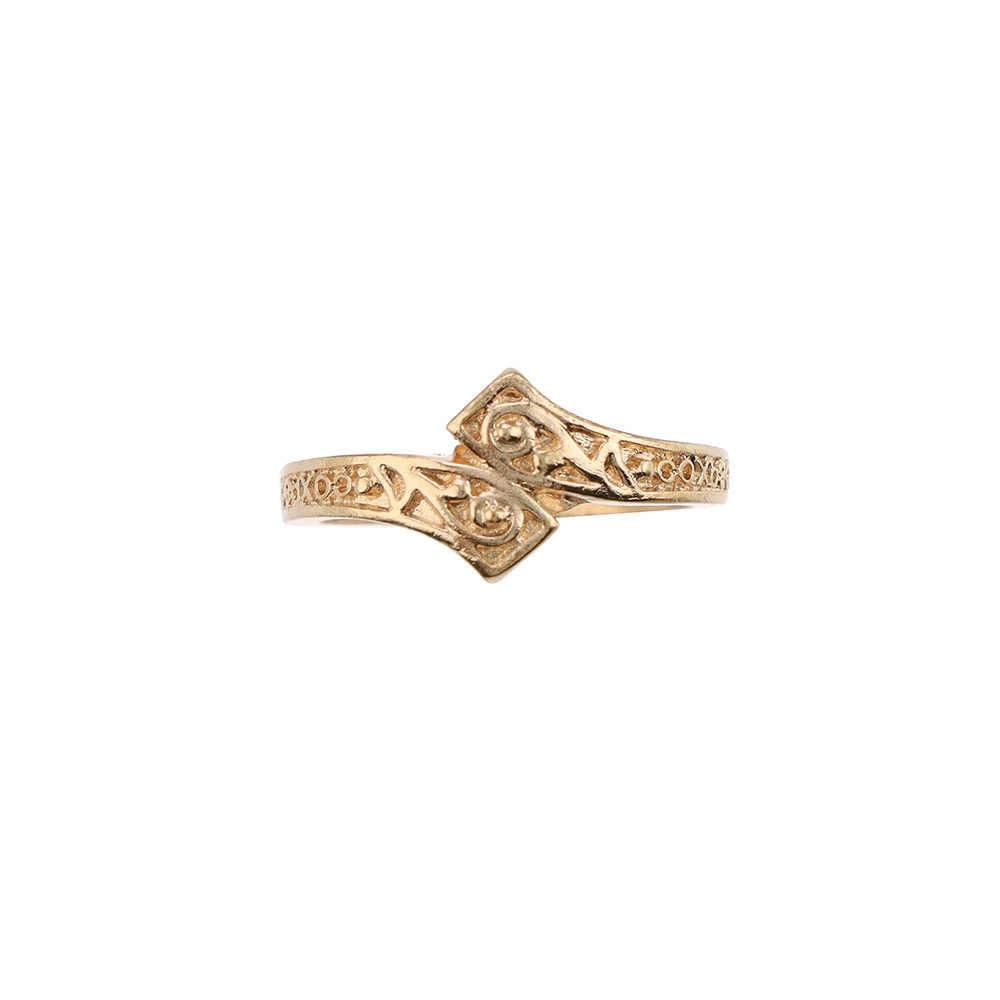 Retro Gold สี Totem รูปแบบแหวน Rhinestone Hollow แหวนสำหรับสตรี 2019 แฟชั่นเครื่องประดับของขวัญหญิงสไตล์เรียบง่ายใหม่