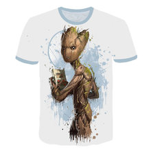 цена на Men Designer Short Sleeve Custom 3D Twisted Rocket Racoon Groot T-Shirt 5XL Guardians Of The Galaxy Racoon Tee TShirt Camisetas