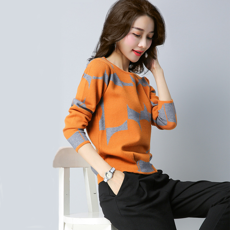 Women Sweaters And Pullovers 2019 Autumn Winter Clothes Long Sleeve Knit Bottom Sweater Loose Large Size Casual Women Tops Y59