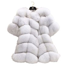 faux fur gilet Fifth Sleeve Winter Women Fox Fur Coat Jacket Fur Coat High Imitation 2016 Women Clothes Fox Fur Coat