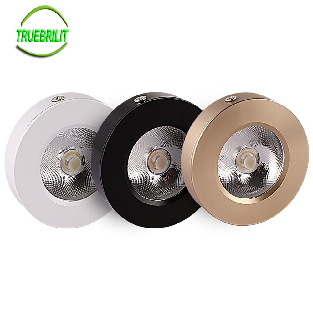 LED Surface Mounted Downlights 3W 5W 7W Panel lamps Cabinet Showcase Down Lights COB Spot Ceiling 220V 240VLED Surface Mounted Downlights 3W 5W 7W Panel lamps Cabinet Showcase Down Lights COB Spot Ceiling 220V 240V