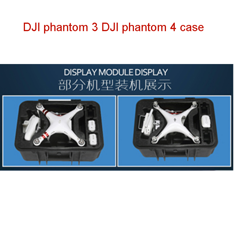 DJI Phantom 3 DJI Phantom 4 Case Custom Box For DJI 4&3 Waterproof High Quality Shipping Free