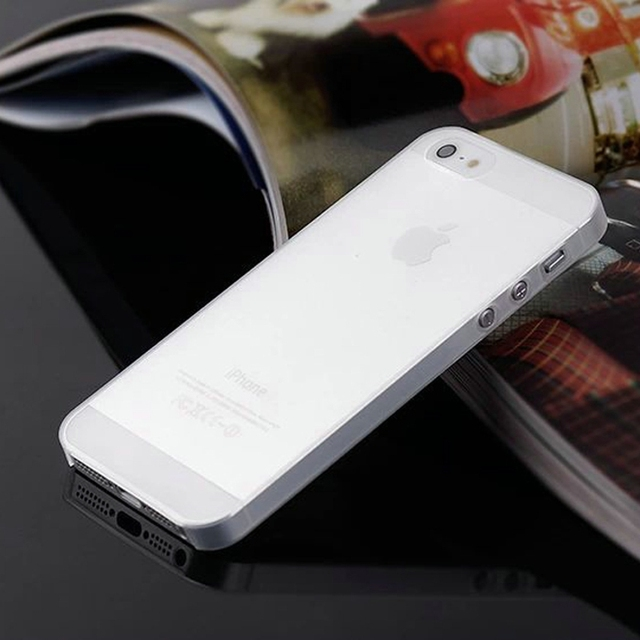 0.3mm Ultra Thin Matte Mobile Phone Bag Case for iPhone 5 5S SE 2020 6 6S 7 8 Plus 4 4S X XS Translucent Clear Capa Funda Coque 5