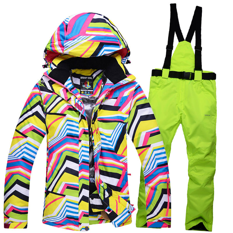 2016/7 SNOWY OWL ski suits women's jacket+pants,snowboard clothes,snowboard ski jackets Sports Waterproof Windproof Breathable