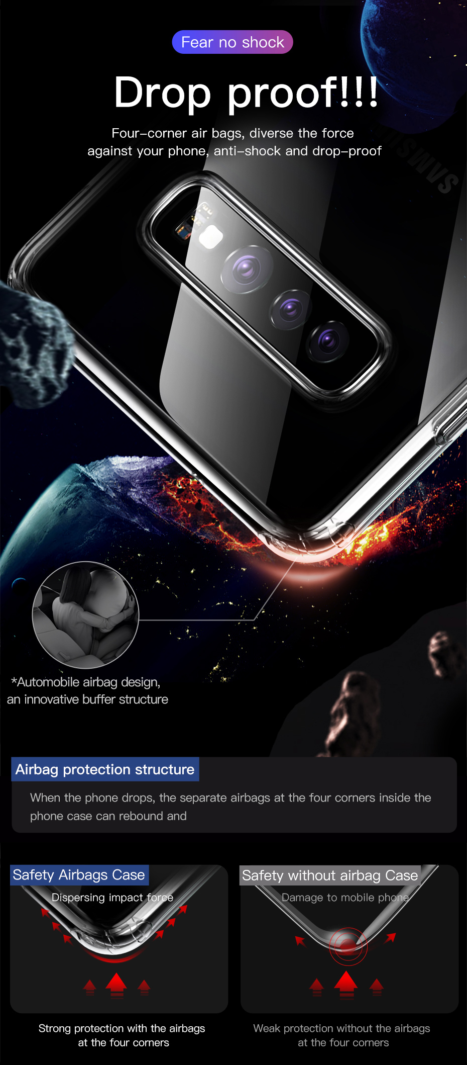 Baseus Transparent Case Samsung-Galaxy-S10-S10-Plus