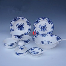 Royal rose Jingdezhen 28 head blue glaze ceramic bone china tableware gift packaging
