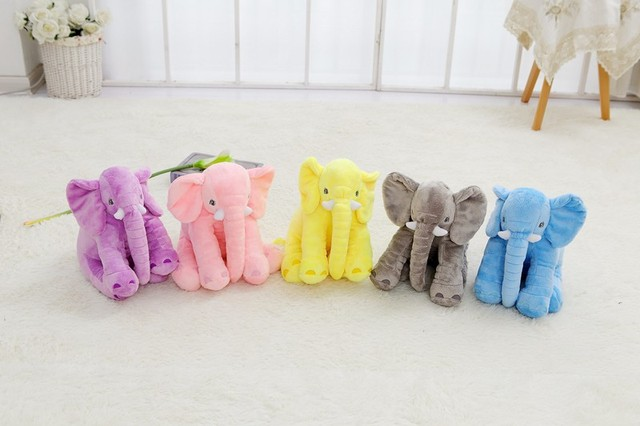 Small Size 40cm 5colors Elephant Plush Soft Toy Stuffed Baby Toy Anminal Appease Toys Lumbar Pillow
