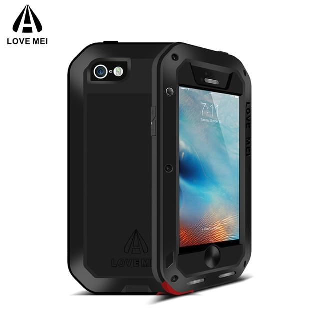 Ударопрочный чехол Love Mei для телефона, металлический чехол для iPhone 5 5S SE, для iPhone5, 5S, SE, прочный, полный корпус, защита от падения, iPhone SE