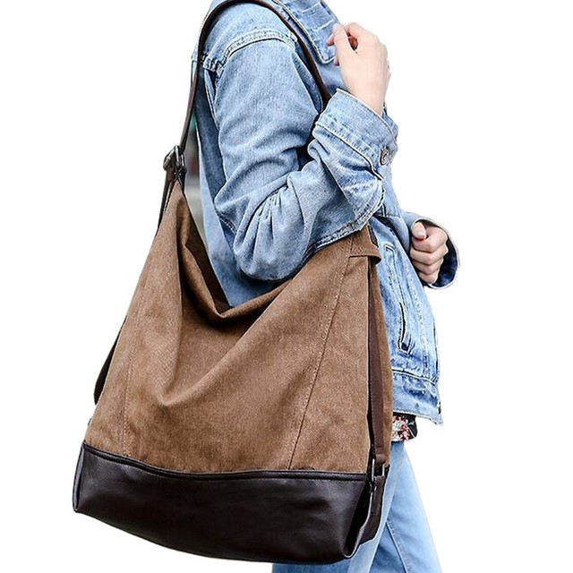 Casual women canvas bag handbag New fall women handbags large capacity  blast wave Korean special oversized shoulder bag M7-581 75c7e93b8ef23