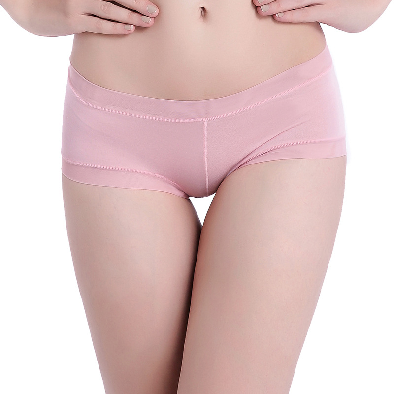 Solid color ladies seamless underwear low waist pregnant women underwear breathable soft and comfortable triangle briefs